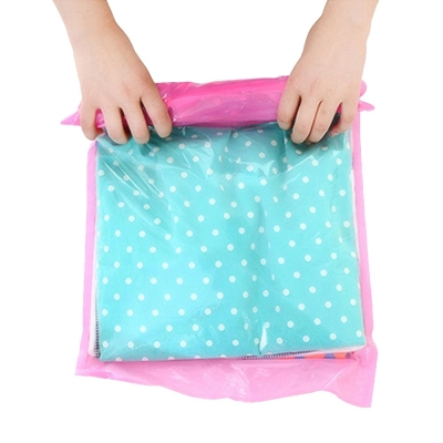 PUSH! 手壓式真空壓縮袋防水衣物收納袋(中號2包4入)S36-1