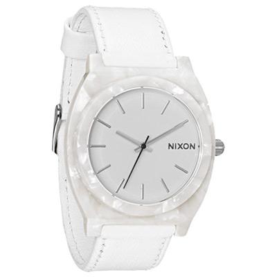 NIXON The TIME TELLER 輕質時尚休閒腕錶-白/40mm