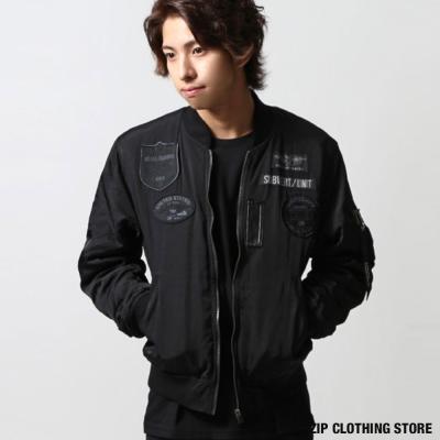 MA-1刺繡徽章軍裝外套 ZIP日本男裝