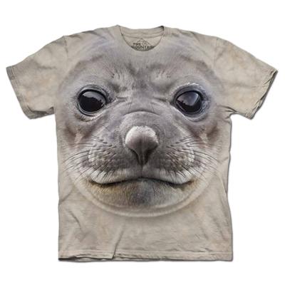 摩達客 美國進口The Mountain海豹臉 純棉短袖T恤