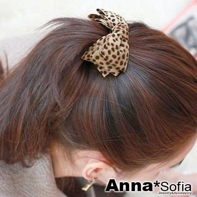AnnaSofia-豹紋三層蝶結-純手工圓夾