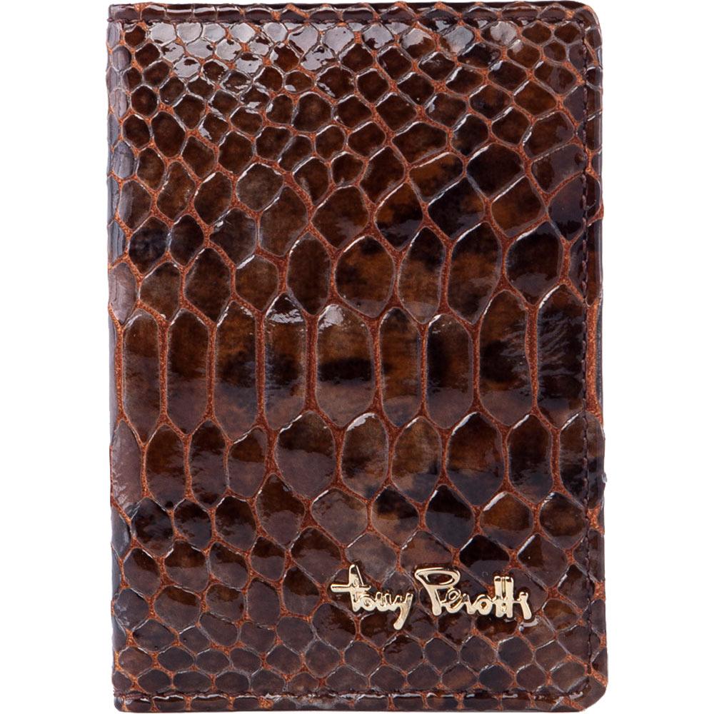 TONY PEROTTI 義大利蟒蛇紋牛皮 名片/卡夾 #3043N ( 金棕色 )