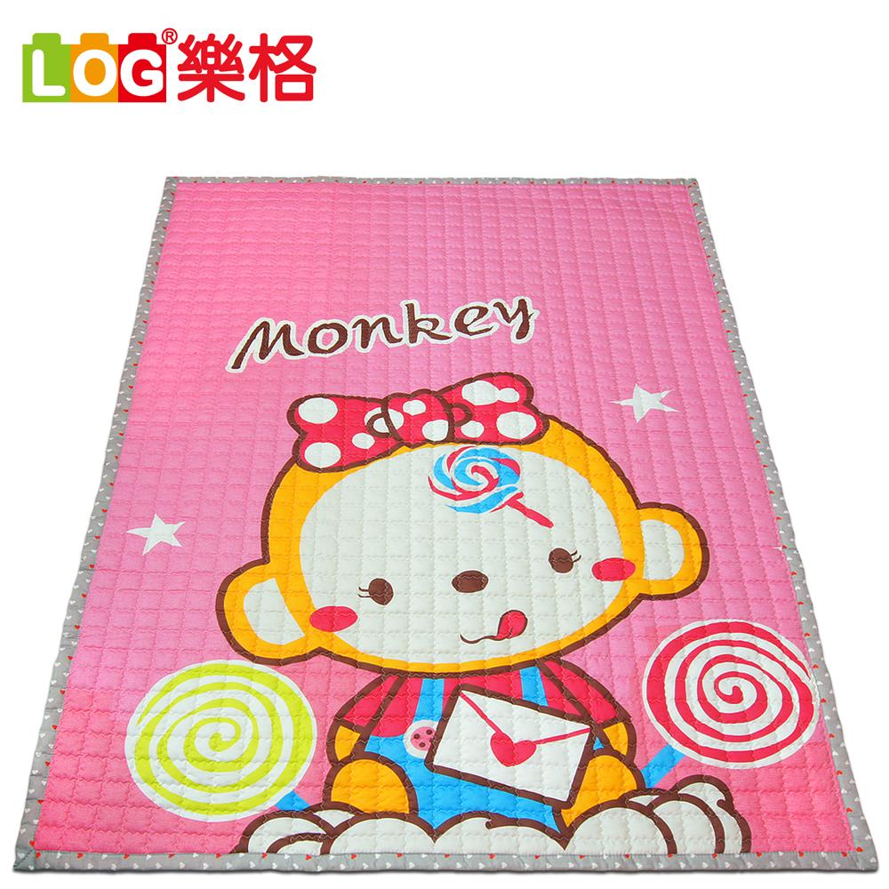 防滑遊戲毯-甜蜜的小猴 200x150cmx厚1.5cm LOG樂格