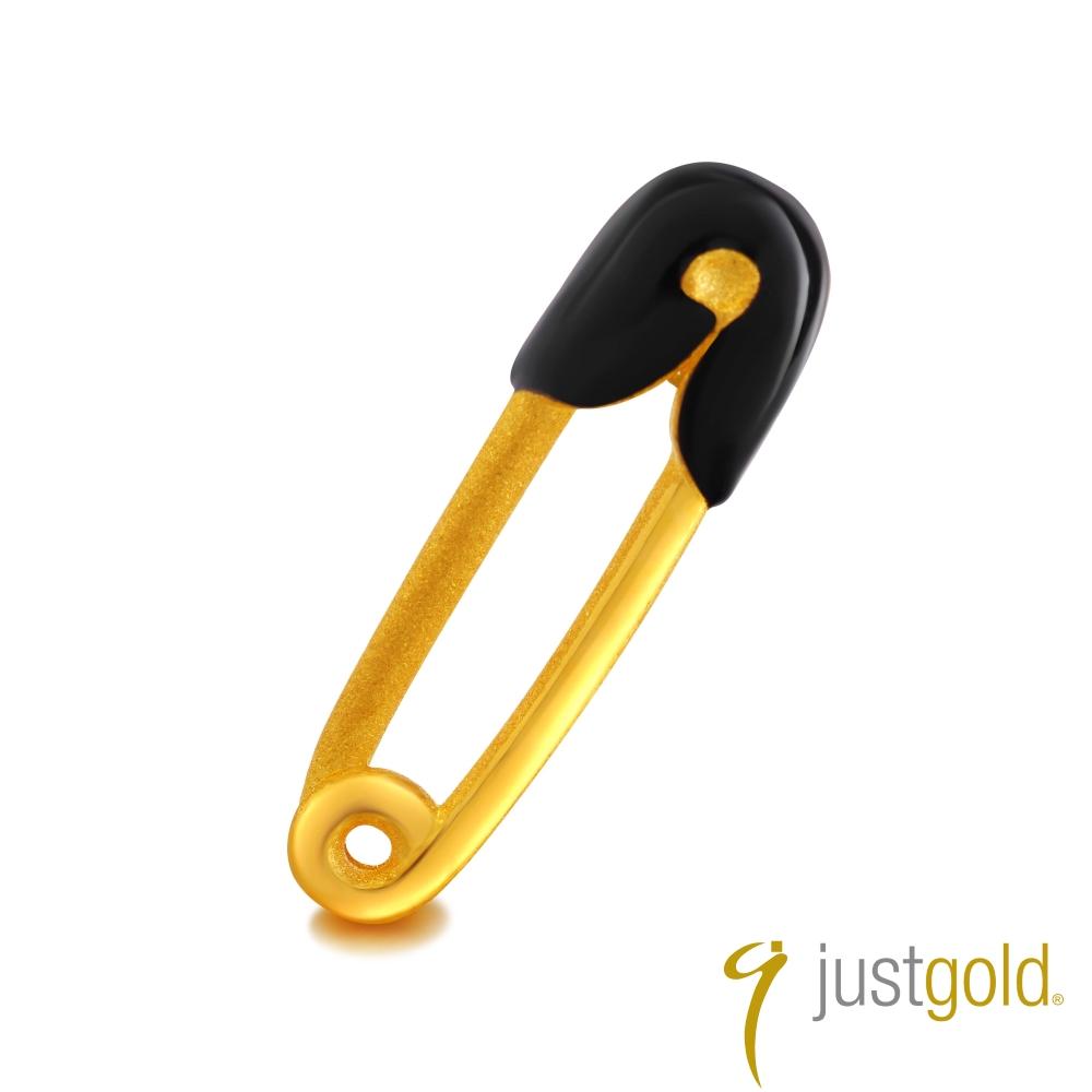鎮金店Just Gold 黃金單耳耳環- 繽紛派對(別針)