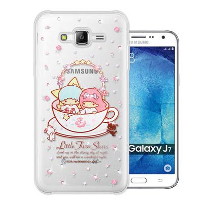 三麗鷗 雙子星仙子 Samsung Galaxy J7 水鑽系列軟式手機殼(許願...