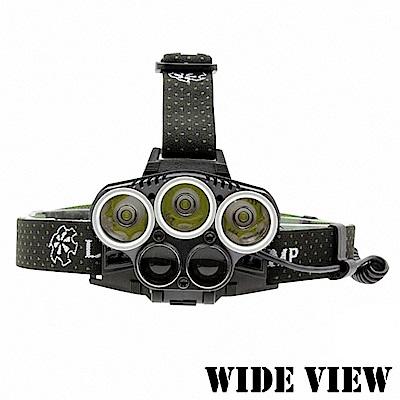 【WIDE VIEW】5LED超爆亮T6頭燈(NZL-5LED-P)