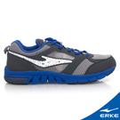 ERKE 鴻星爾克。男運動常規慢跑鞋-碳灰/蔚藍