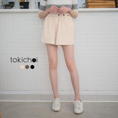 東京著衣 自訂款附腰帶高腰短褲-S.M.L(共三色)