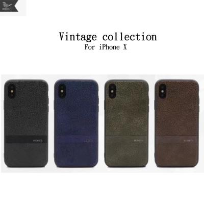 Mokka iPhone X 懷舊爆裂紋系列 保護殼