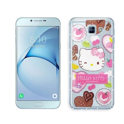Hello Kitty 凱蒂貓 Samsung A8(2016) 透明空壓防震殼...