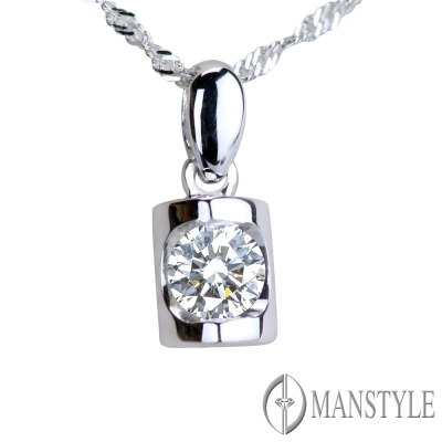 MANSTYLE 方圓之光 0.30ct 八心八箭鑽石墜子