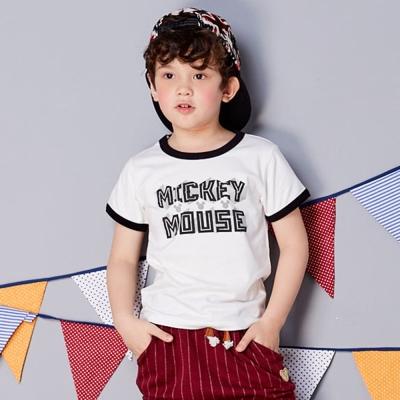 Disney 米奇系列幾何T恤  白色
