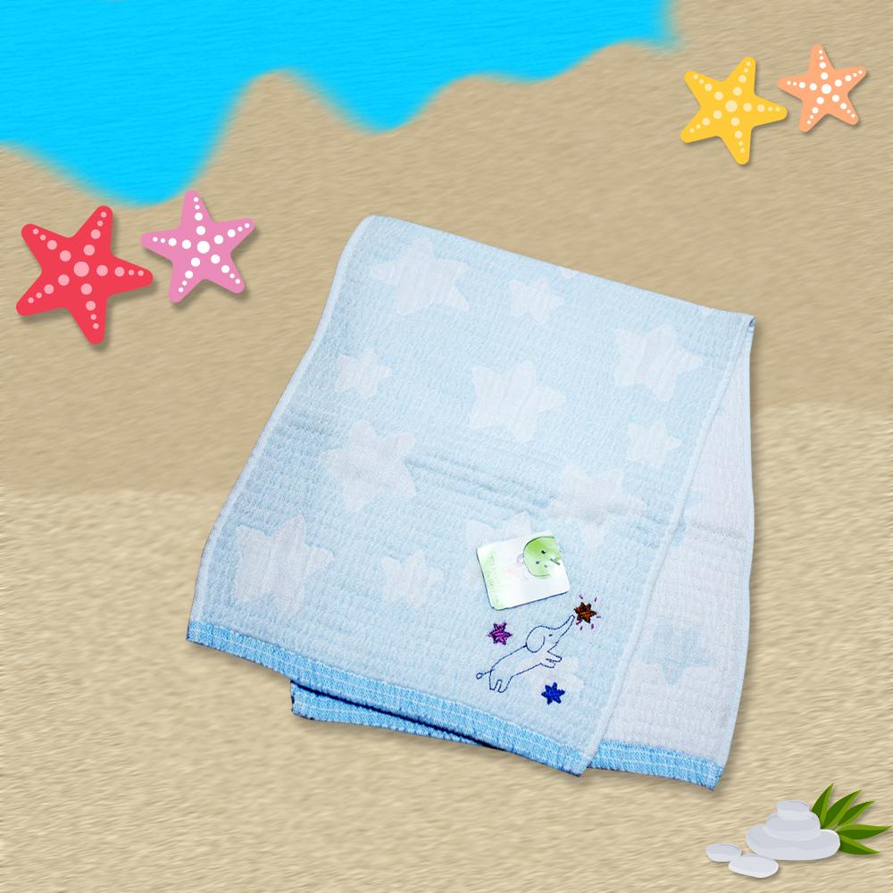 日本製藍星象麻紗毛巾24*70 cm