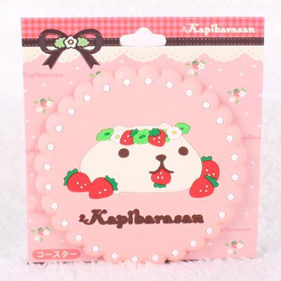 Kapibarasan 水豚君系列杯墊(粉)