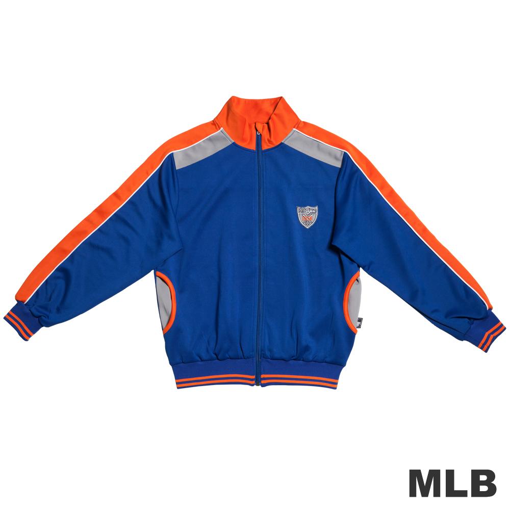 MLB-洛杉磯道奇隊撞色立領休閒外套-藍男童