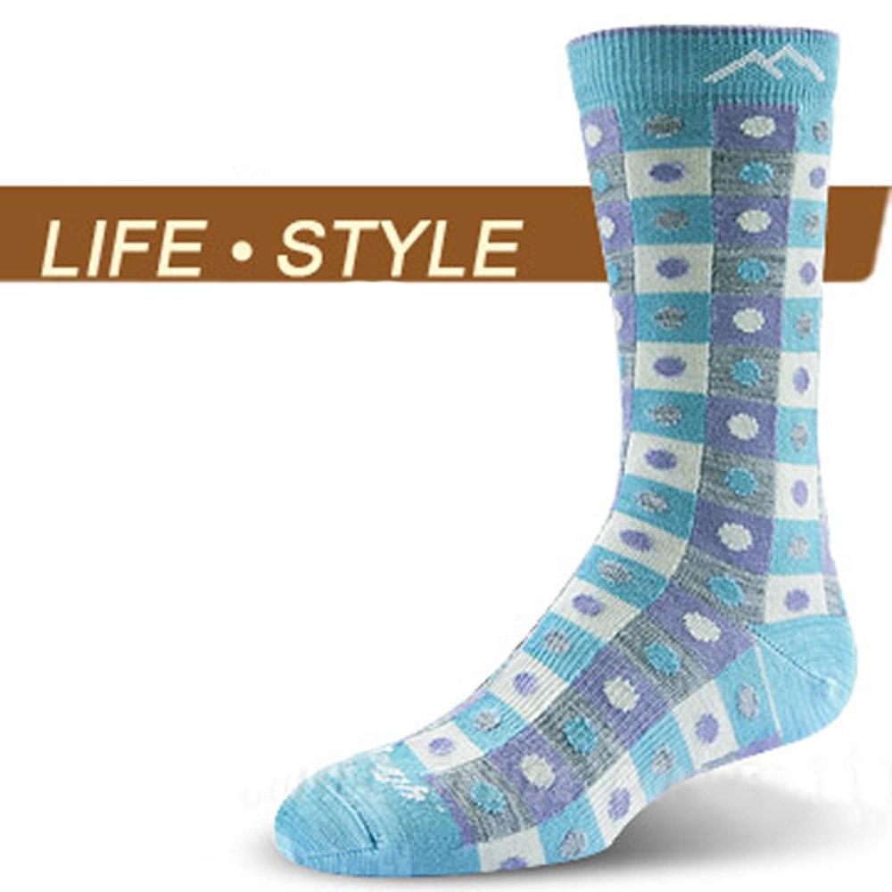 【DARN TOUGH 】VERMONT 美麗諾羊毛襪(2入)_淺藍