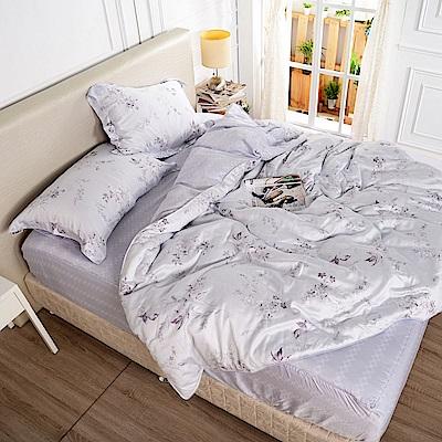 夢工場 冉若秋風天絲頂規款兩用被鋪棉床包組-雙人