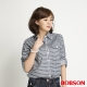 BOBSON 女款條紋長袖襯衫(藍條53) product thumbnail 1