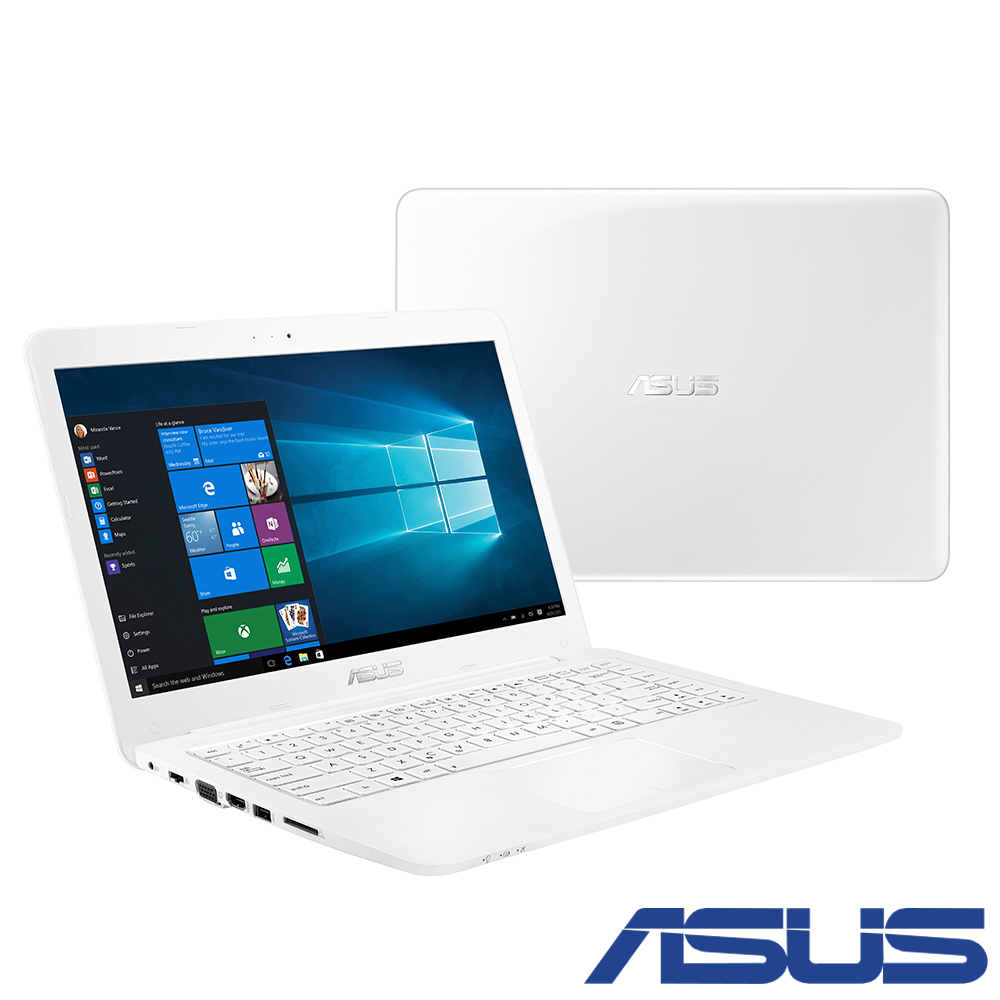 ASUS E402 14吋四核筆電(N3160/500G/4G/1.65kg/白)