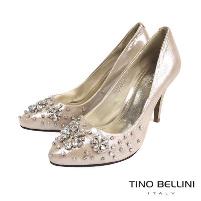 Tino-Bellini-浪漫耀眼花嫁新娘鞋-金