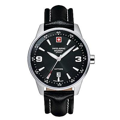 阿爾卑斯 S.A.M -獨家限定-飛翼系列-黑色錶盤/黑色皮帶/41mm