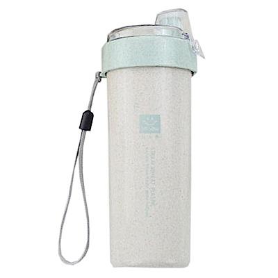 iSFun環保麥纖維 隨身掀蓋吸嘴水杯400ML 4色可選