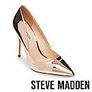 STEVE MADDEN-DAISIE 素面尖頭高跟鞋-鏡金色