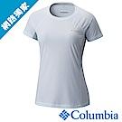 Columbia 哥倫比亞 女款-涼感快排野跑短袖上衣-白色 UAR19620WT