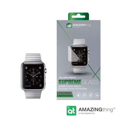AmazingThing Apple Watch 38mm 曲面強化玻璃保護貼 - 急速配