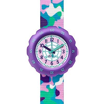 Flik Flak 兒童錶 UNDER MISSION 粉嫩迷彩手錶