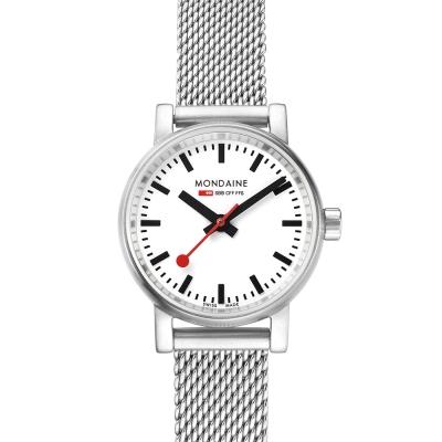 MONDAINE 瑞士國鐵 evo2 米蘭鏈帶錶-白/26mm