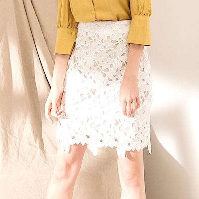 CACO-法式花朵蕾絲裙-女【PSH138】