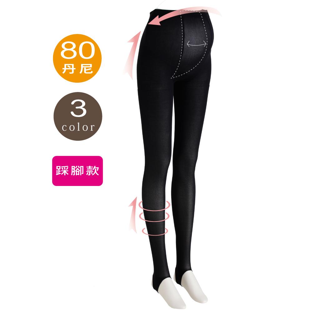 日本犬印-孕婦用踩腳褲襪(80丹尼)-M~L/L~LL共3色