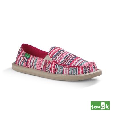 SANUK Valdese Weavers設計編織懶人鞋-女款(藍莓色)