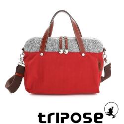 tripose 漫遊系列岩紋玩色兩用手提背包 番茄紅