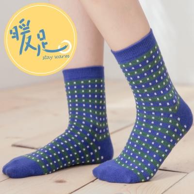 蒂巴蕾 暖足 羊毛襪-斑馬線