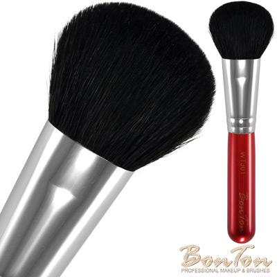 BonTon 湛紅短柄 扁短腮紅刷(大) WTJ01 特級尖峰黑羊毛