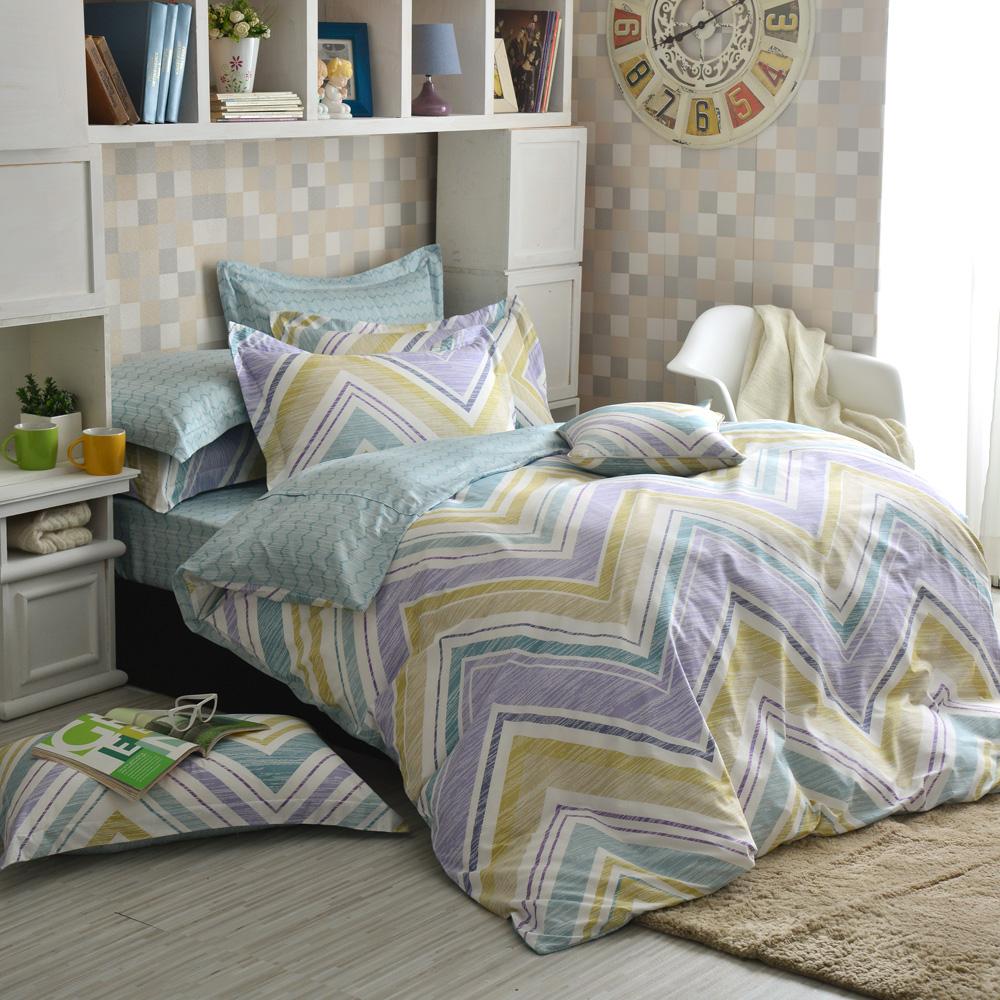 IN HOUSE-Iceland Aurora-精梳棉-加大薄被套床包組