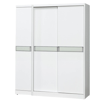 Bernice-查斯5.3尺白色衣櫃(左桶)-161x60x198cm