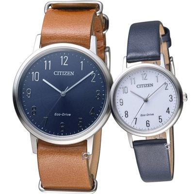 CITIZEN  經典品味時尚對錶(BJ6501-10L+EM0571-16A)