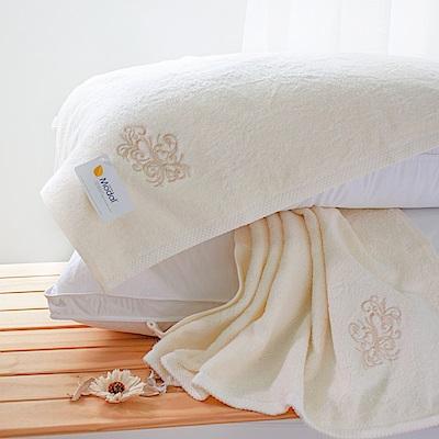 鴻宇HongYew 純色Modal莫代爾枕巾 米白 2入