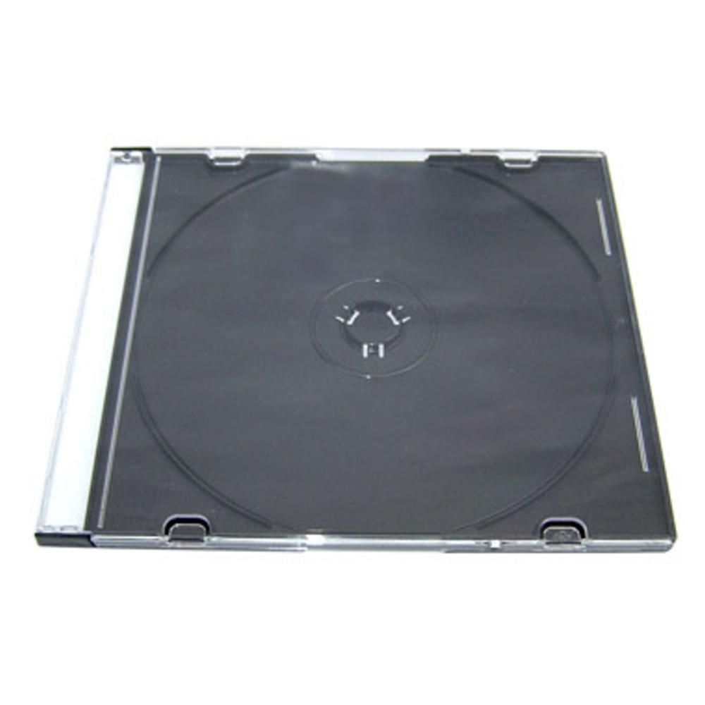 DigiStone單片超薄CD/DVD硬殼收納盒/黑色 200PCS