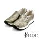 GDC-簡約時尚真皮編織紋厚底懶人休閒鞋-槍灰色 product thumbnail 1