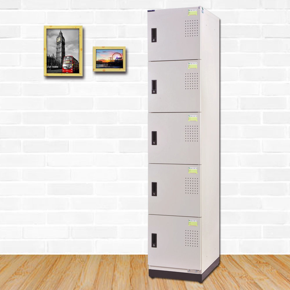 時尚屋 卡莫斯多用途鋼製五層置物櫃  寬39x深51x高185cm