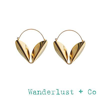 Wanderlust+Co 金色勝利V型耳環 達利超現實風格耳環 DALI HOOP