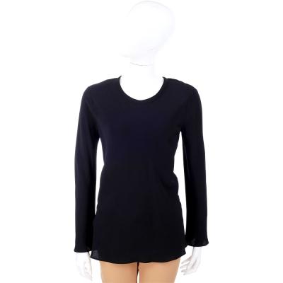 PHILOSOPHY 黑色圓領長袖紗質上衣 @ Y!購物