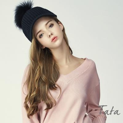 針織鴨舌帽 共二色 TATA