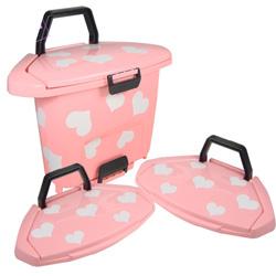 ★限殺★《色彩繽紛》甜心粉紅垃圾桶+輕便垃圾桶蓋2入超值組