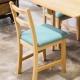 CiS自然行實木家具- 北歐實木書椅(扁柏自然色)湖水藍椅墊 product thumbnail 1