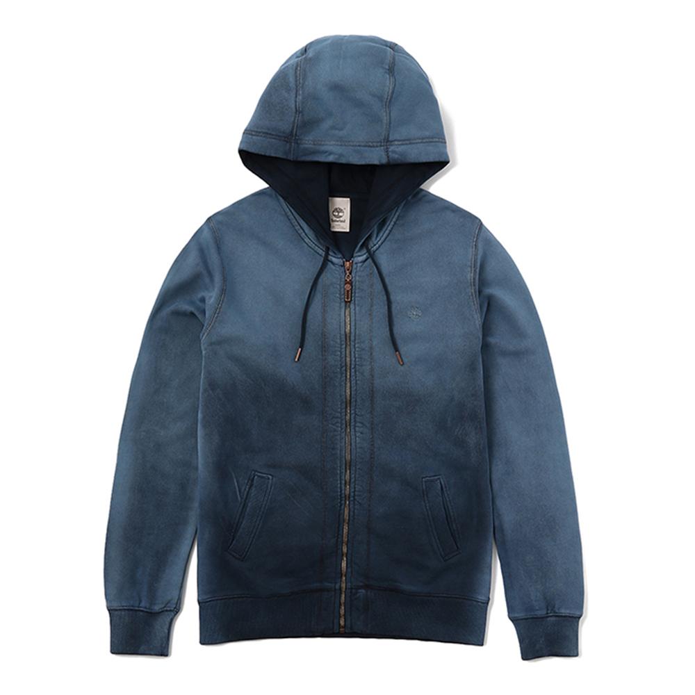 Timberland 男款藏青色漸層拉繩連帽外套